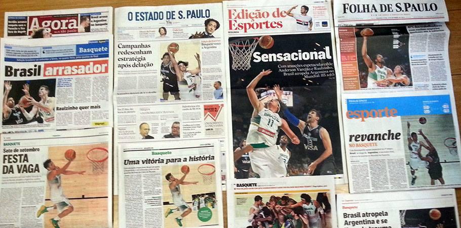 Seleção de basquete é capa dos principais jornais do país